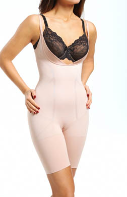 SPANX Slimmer & Shine Open Bust Mid Thigh