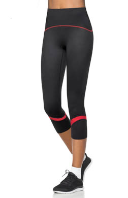 SPANX Shaping Compression Crop Pant with Color Band Pop