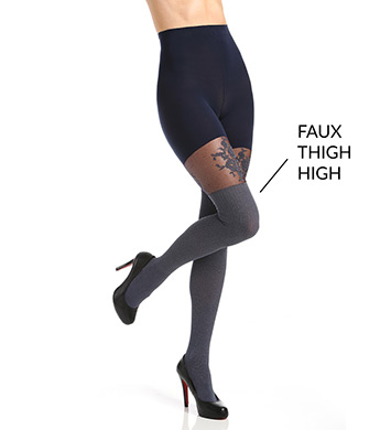 SPANX Floral Lace Over-The-Knee Tights