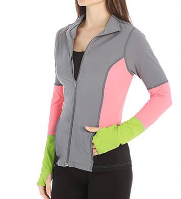 SPANX Mock Neck Zip Front Jacket