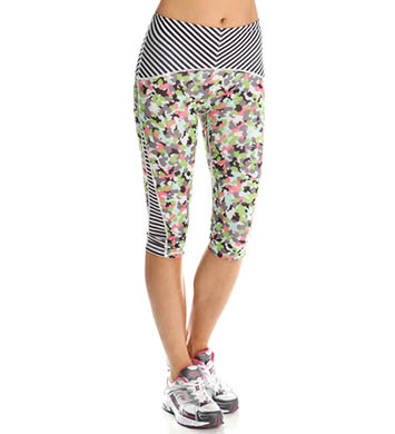 SPANX Shaping Print Block Compression Knee Pant