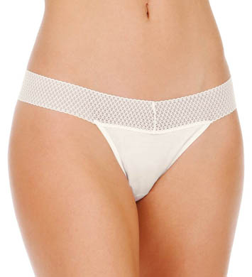 Splendid Essential Solid Mesh Lace Thong