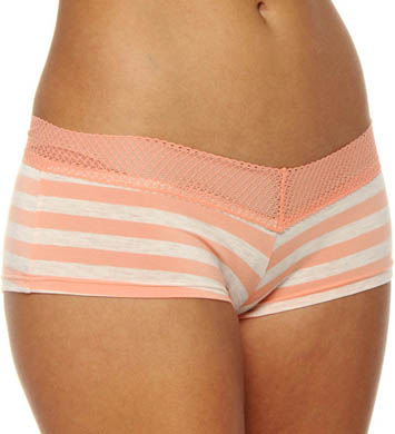 Splendid Essential Stripe Mesh Lace Girl Short Panty