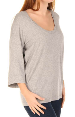 Splendid Heather Super Soft Scoop Neck Full Sleeve Tee