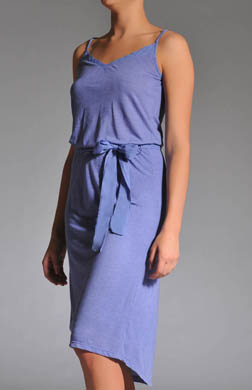 Splendid Melange Jersey Lined Belted Dress