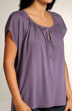 Splendid Very Light Jersey Cap Sleeve V-Neck Tee