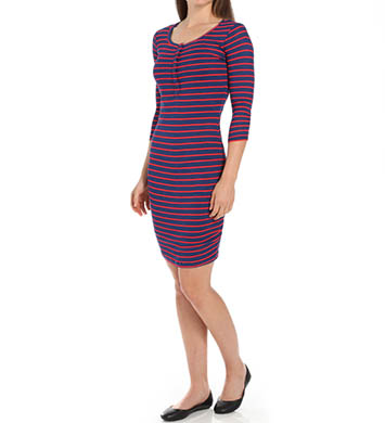 Splendid New Haven Stripe 3/4 Sleeve Dress