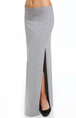 Splendid Cotton Modal Side Slit Maxi Skirt