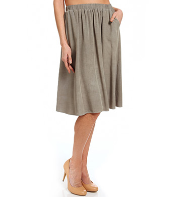 Splendid 24 Knee Length Rayon Skirt