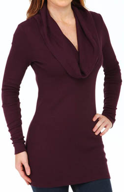 Splendid Long Sleeve Thermal Cowl Neck