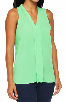 Splendid Shirting Sleeveless Pleated Front Top