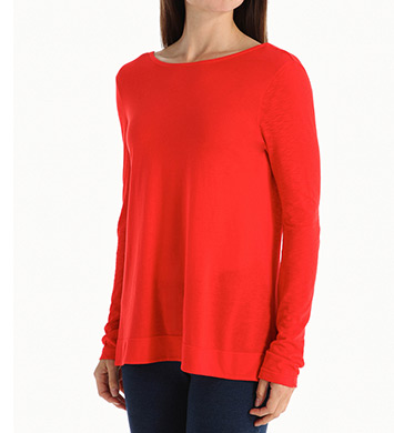 Splendid Very Light Jersey Long Sleeve V-Back Tee