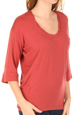Splendid Scoop Neck Full Sleeve Tee