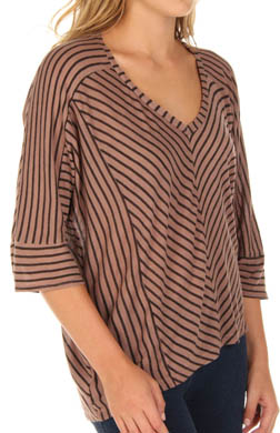 Splendid Vienna Mitered Stripe V-Neck Top