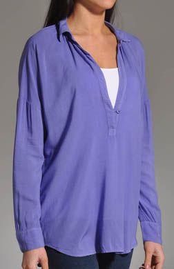 Splendid Long Sleeve Oversized Collared Shirt