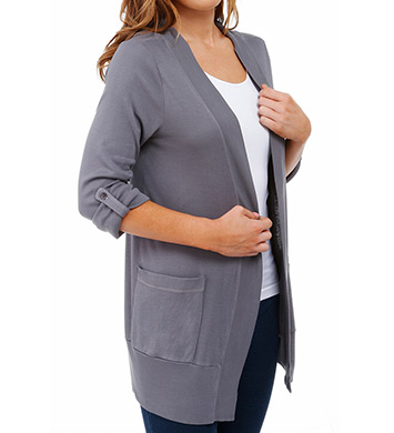 Splendid 1X1 Fold Collar Long Cardigan