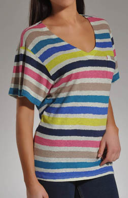 Splendid Oasis Stripe V-Neck