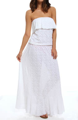 Sunsets Coastal Crochet Maxi Dress