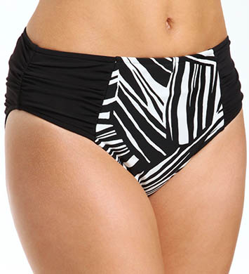 Sunsets River Bend Shirred High Waist Swim Bottom