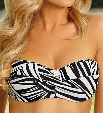Sunsets River Bend Underwire Twist Bandeau Swim Top