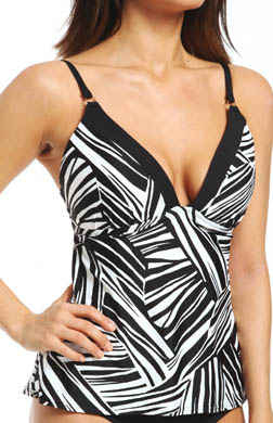 Sunsets River Bend Contour Cup Tankini Swim Top