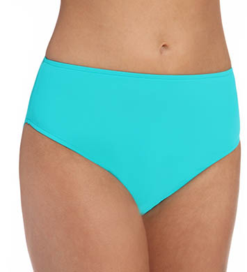 Sunsets Tropical Teal High Waist Swim Bottom