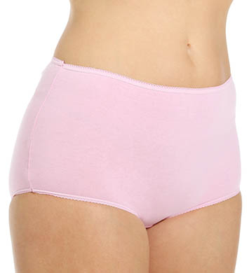 Teri Cotton Full Cut Brief Panties - 4 Pack