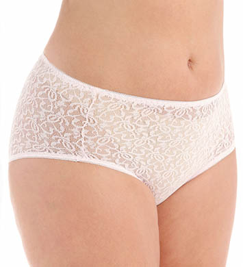 Teri Basic Lace Hi-Cut Brief Panties - 3 Pack