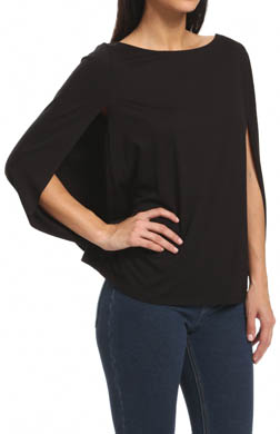 Three Dots Viscose Lycra Blouson Top