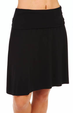 Three Dots Viscose Lycra Fold Over Skirt