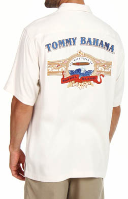 Tommy Bahama Barrel Blend Silk Diamond Twill Camp Shirt