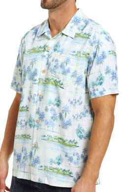 Tommy Bahama Pico Palms Silk Camp Shirt