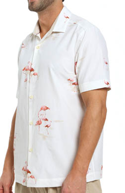 Tommy Bahama Let's Go Flamingo Silk Camp Shirt