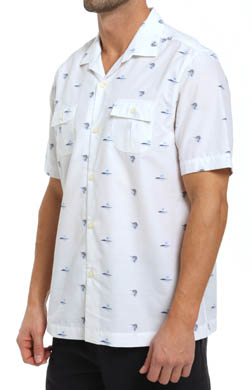 Tommy Bahama Marlin Mixer Jacquard Camp Shirt