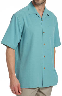 Tommy Bahama Island Fly Embroidered Silk Camp Shirt