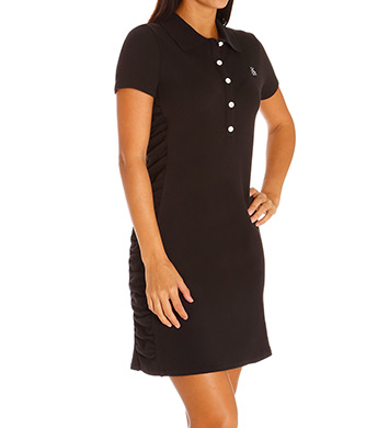 Tommy Bahama Side Shirred Collared Dress