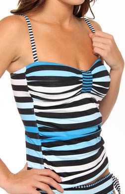 Tommy Bahama Bermuda's Lost Stripes Tankini Swim Top