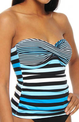 Tommy Bahama Bermuda's Lost Stripes Twist Bandini Swim Top