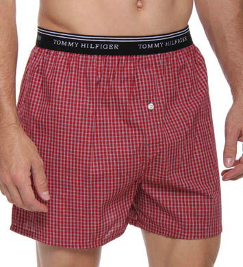 Tommy Hilfiger Red Plaid Boxer