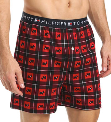 Tommy Hilfiger Scotties and Plaid Knit Boxer