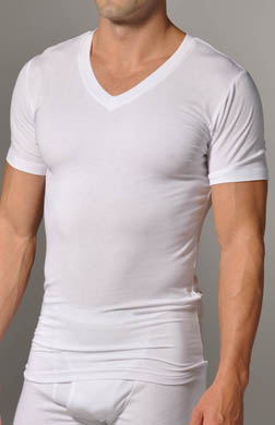 Tommy John Second Skin Stay Tucked V Neck Tee