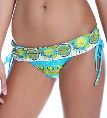 Trina Turk Woodblock Floral Sash Hipster Swim Bottom