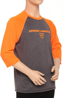 Under Armour Boys UA 3/4 Sleeve Baseball Top