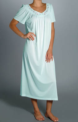 Unmentionables Embroidered Yoke Long Gown