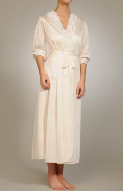Unmentionables Long Lace Trim Robe