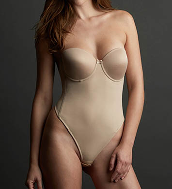 Va Bien Low Back Seamless Thong Bodysuit