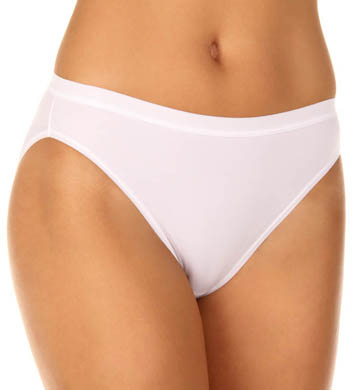 Vassarette Microfiber No Ride Up High Cut Panty