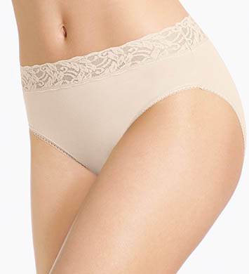 Wacoal Cotton Suede New Hi-Cut Brief Panty