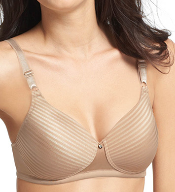 Warner's Secret Makeover Natural Lift Wire Free Striped Bra