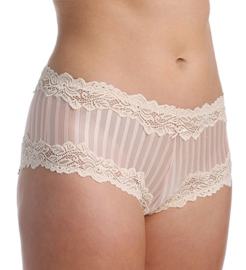 Whimsy by Lunaire Barbados Mesh Boyshort Panty With Lace Trim
